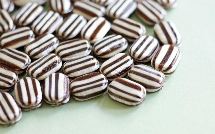 Stripy humbugs...loved these, haven't seen them in years! (Try looking in Hagrid's pockets)