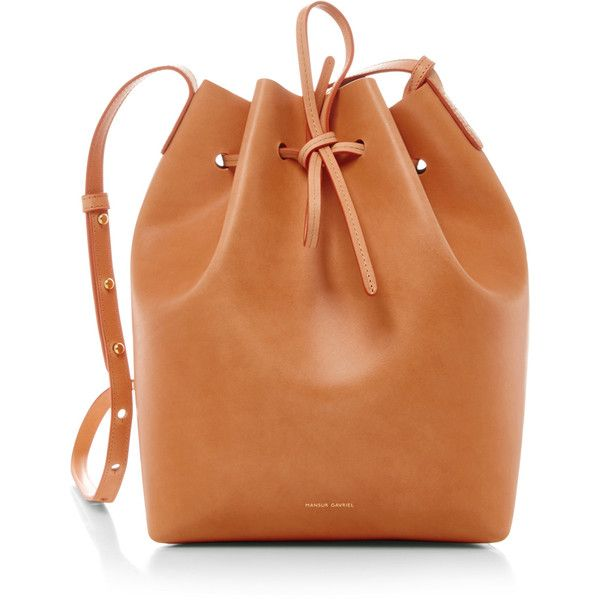 Mansur Gavriel Cammello Silver Large Bucket Bag (11,240 MXN) ❤ liked on Polyvore featuring bags, handbags, shoulder bags, tan, man bag, handbags purses, tan purse, purse shoulder bag and orange purse