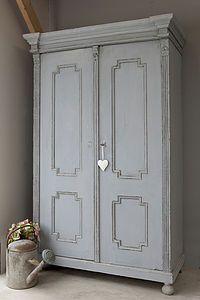Vintage Painted Wardrobe - furniture