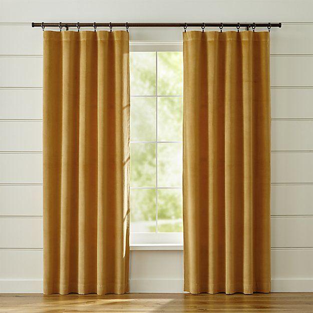 Luxurious Gold Velvet Curtain Panels Frame Windows In Lush, Plush Color.  Made Of 100