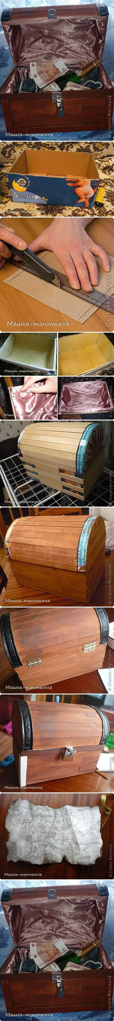 DIY Cardboard Treasure Box: