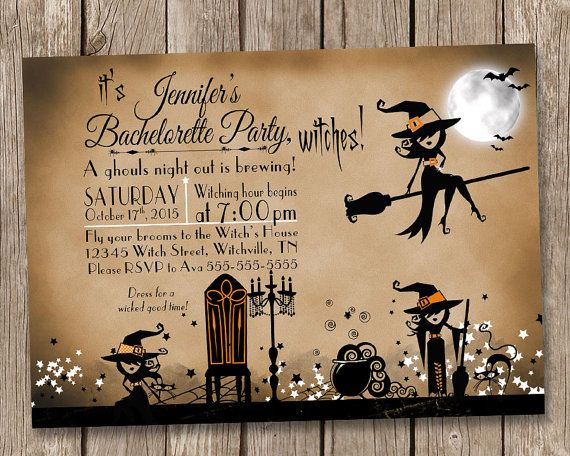 Spooktacular Halloween Wedding Invitations Vintage