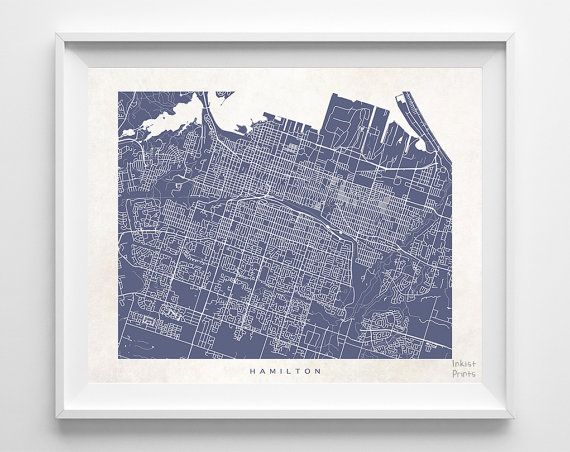 Baby Gift Baskets Hamilton Ontario : Best images about canada street map prints on