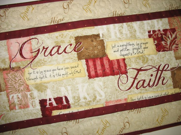 Scripture Table Runner Table Topper Bible Verses