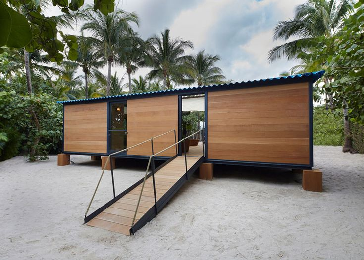 A previously unrealised beach house designed by modernist architect Charlotte Perriand in 1934 constructed and furnished by French fashion house Louis Vuitton.