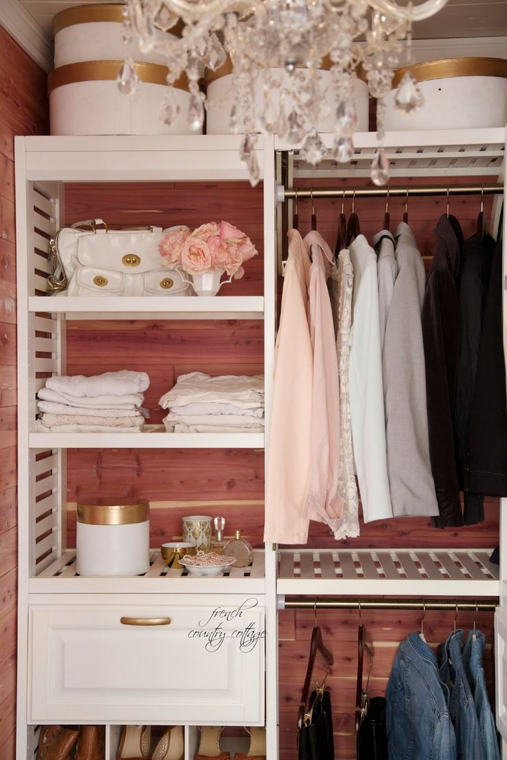 Transform your closet into the most glamorous space in your home. French Country Cottage shows us how!