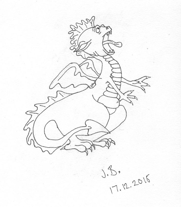 auch! From: How to Draw Dragons in Simple Steps, by Paul Bryn Davies