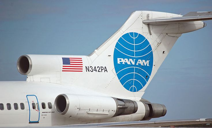 Tail section of a Pan Am Boeing 727