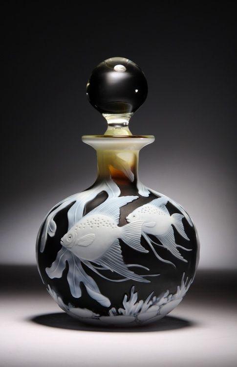 Angel Fish Art Glass Perfume Bottle by Alasdair Gordon<3<3<3
