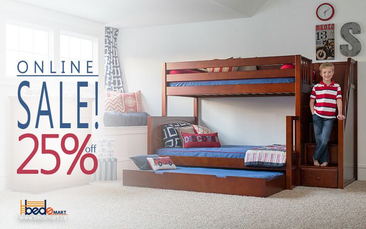 25% Off + Free shipping Canada Wide! SUMO: Twin over Double Maxtrix Bunk Bed with Stairs.  Order today! Offer Ends Soon!