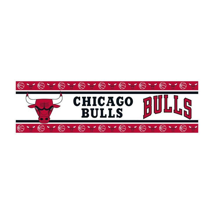 Chicago Bulls Team Spirit Wall Border Decal
