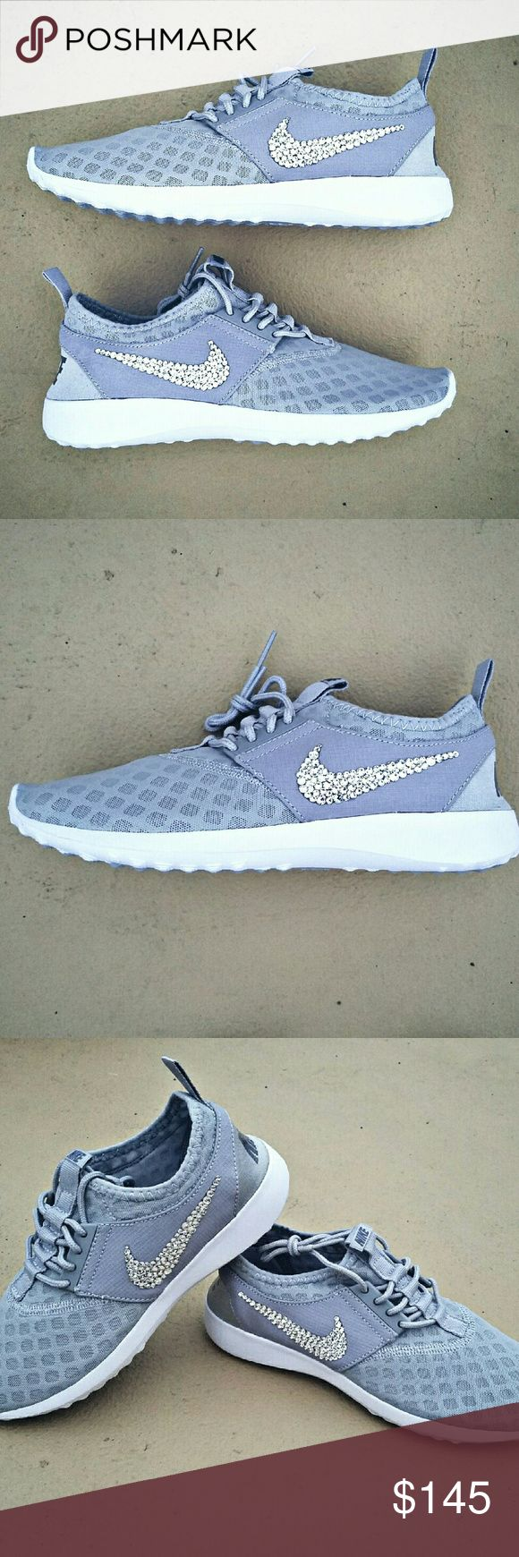 SWAROVSKI Crystal Bling Nike Juvenate - Grey Nike Juvenate Color: Grey Embellished with genuine Swarovski XIRIUS Rose 2088 Crystals Swarovski's newest most revolutionary crystals, the XIRIUS collection takes one step closer to the diamond with extraordinary brilliance & shine Crystals are applied by hand with industrial-strength adhesive. Embellishment is permanent. Extra crystals are provided just in case Find more colors + styles at thefrostshoppe.etsy.com and in my closet Nike Shoes…