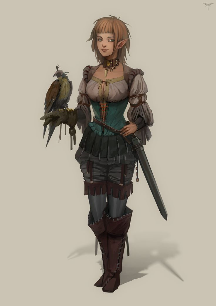 D Amp D Character Design : Falconer by telthona female elf ranger commoner nobility
