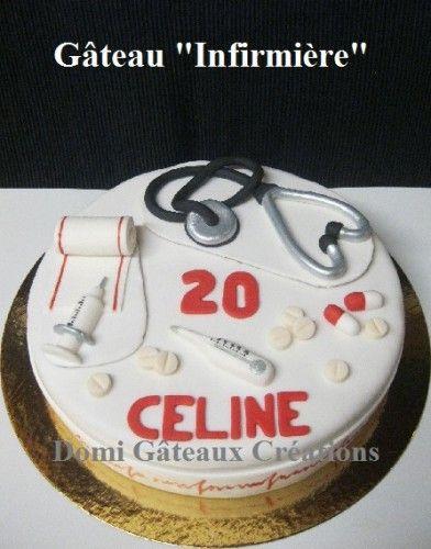 """Gâteau """"Infirmière"""" en Pâte à Sucre"""