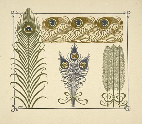 Abstract design based on peacock feathers by Maurice Verneuil (1900?)