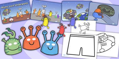 Twinkl Resources >> Aliens Love Underpants Story Sack >> Printable resources for Primary, EYFS, KS1 and SEN. Thousands of classroom displays and teaching aids! Aliens Love Underpants, Story Books, Topics, Story Sacks
