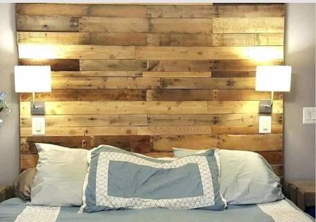 How to Make Your Own DIY Pallet Headboard | Rustic ...