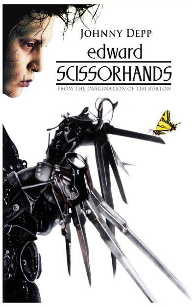 Edward Scissorhands Butterfly Johnny Depp 11x17 Poster