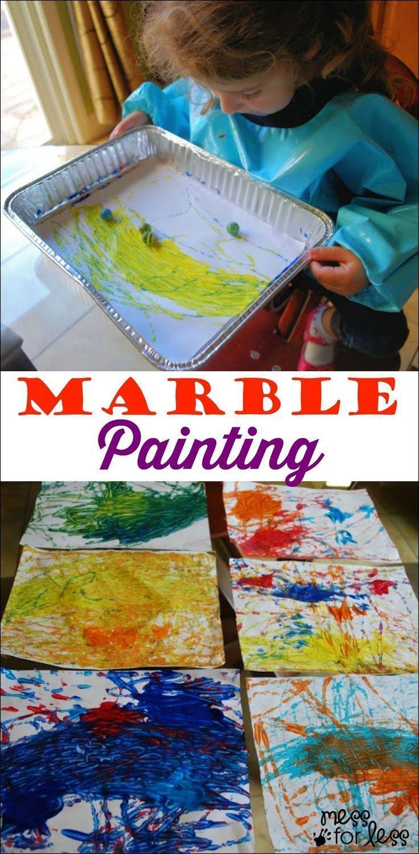 Marvelous Marble Painting - Mess for Less - http://www.oroscopointernazionaleblog.com/marvelous-marble-painting-mess-for-less/