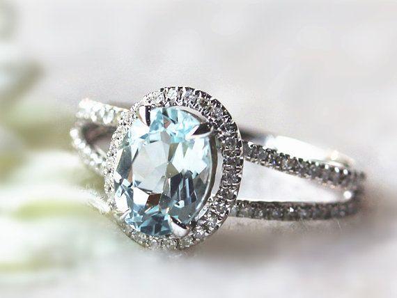 Best jewelry aquamarine images bridal rings