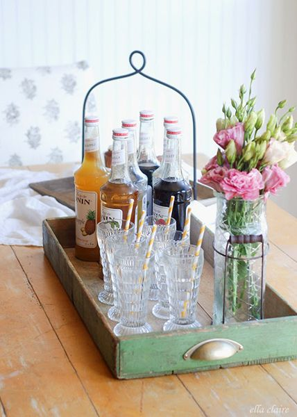 10 things to scoop up at summer flea markets - Old drawers  Repurpose old drawers into chic farmhouse-style trays like this one, found on Ella Claire.