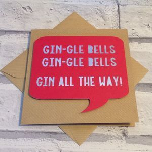 Funny Papercut 'Gin All The Way' Christmas Card. Christmas greeting cards are one of our favourite traditions. Discover unique, inspiring Christmas cards that are sure to stand out.