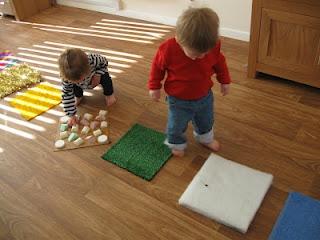 DIY sensory mats