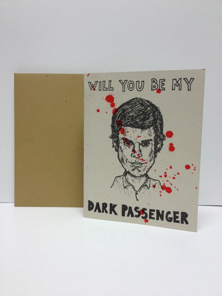 Dexter Morgan : Dark Passenger  - Riso Card. $5.00, via Etsy.