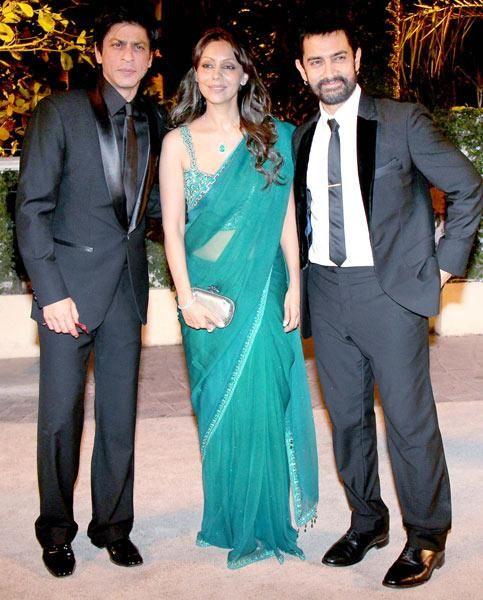 Shahrukh Khan, Gauri and Aamir Khan