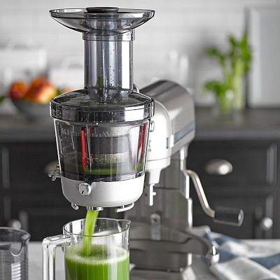 KitchenAid Stand Mixer Slow Juicer Attachment #williamssonoma I gotta have this attachment!!