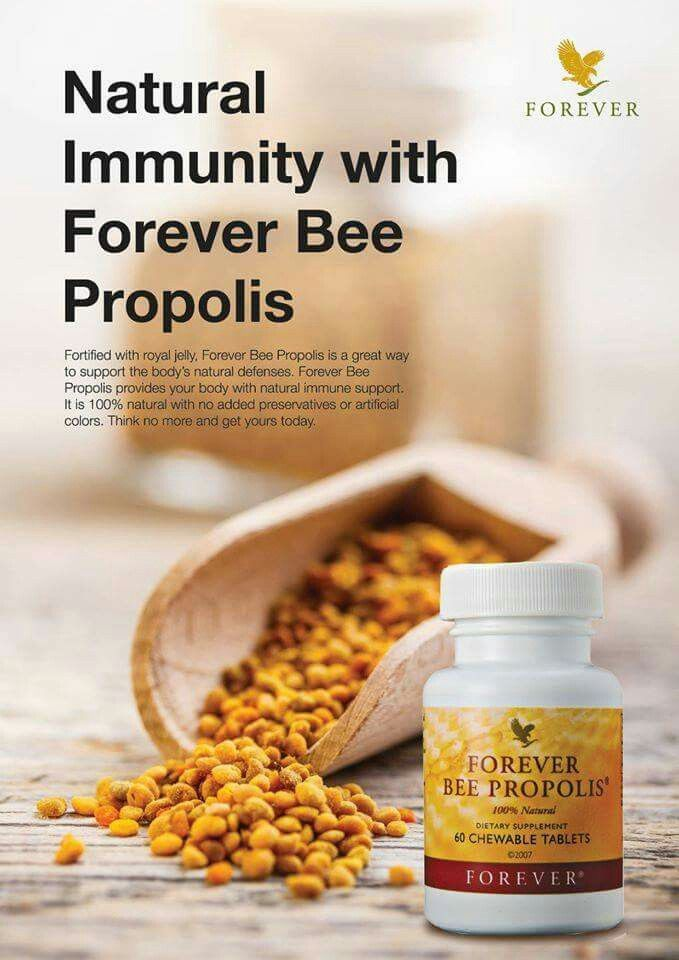 Propolis is the protective substance gathered and used by bees to disinfect and protect their hives. Forever Bee Propolis is gathered from pollution-free regions to assure purity. It is 100% natural with no added preservatives or artificial colours.