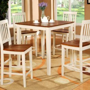 White Counter Height Kitchen Table Sets