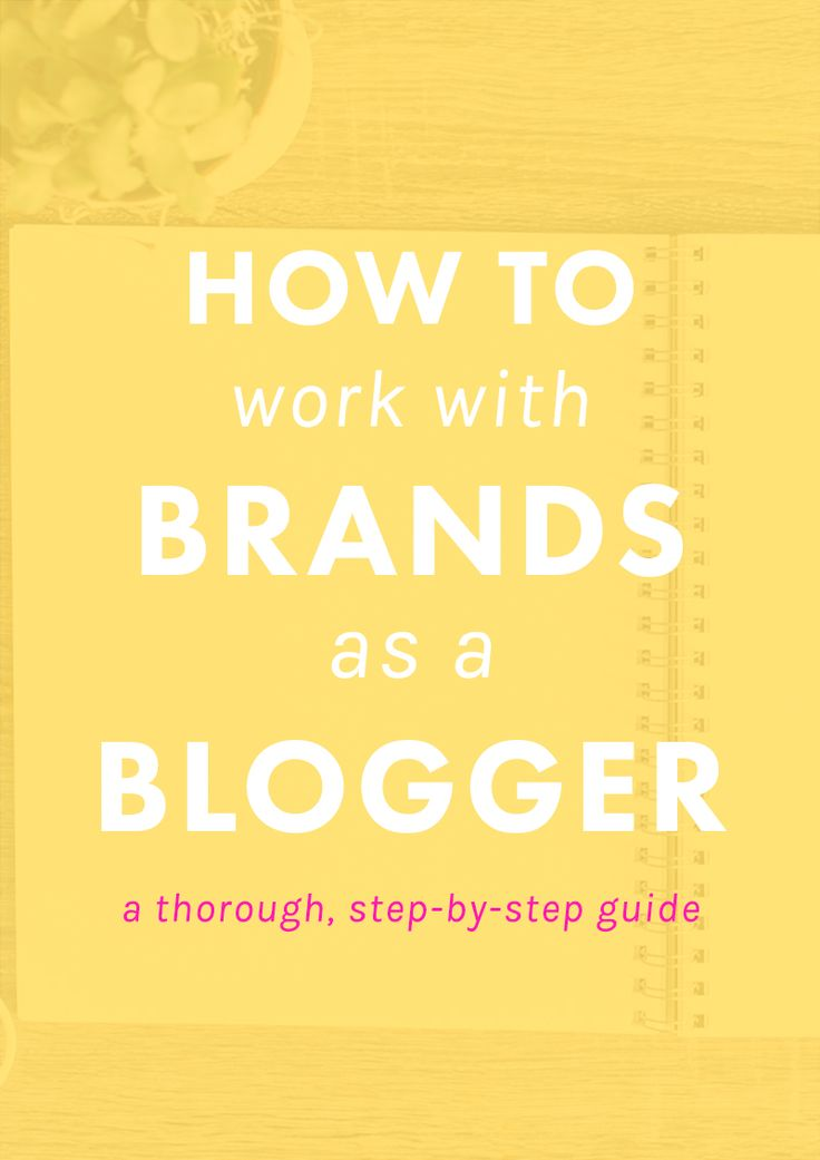 How to Work With Brands as a Blogger. | Want to earn money as a blogger and collaborate with your favorite brands? This step-by-step guide to brand…