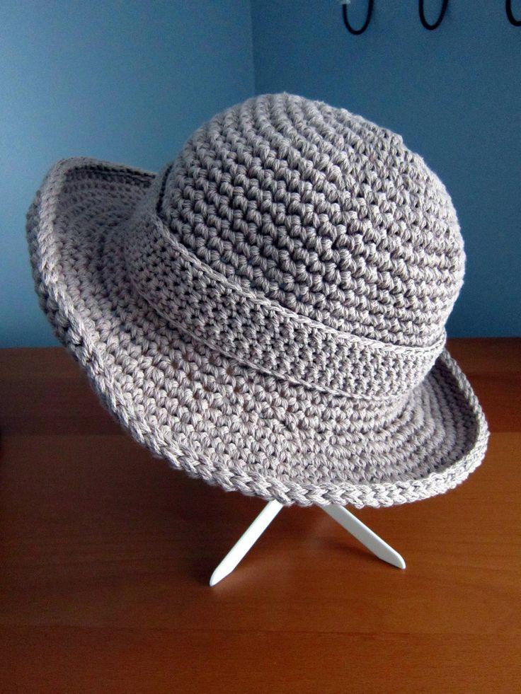 Mein Hut3  Free pattern..uses dbl strands to crochet.