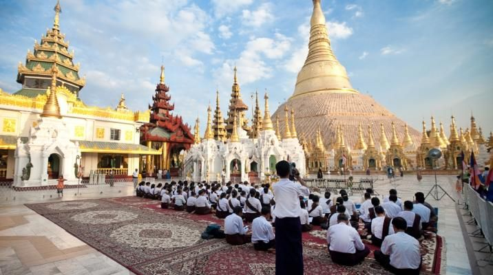 Swedagon Paya i Rangoon