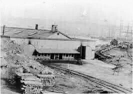 Estación de trenes de Caldera.