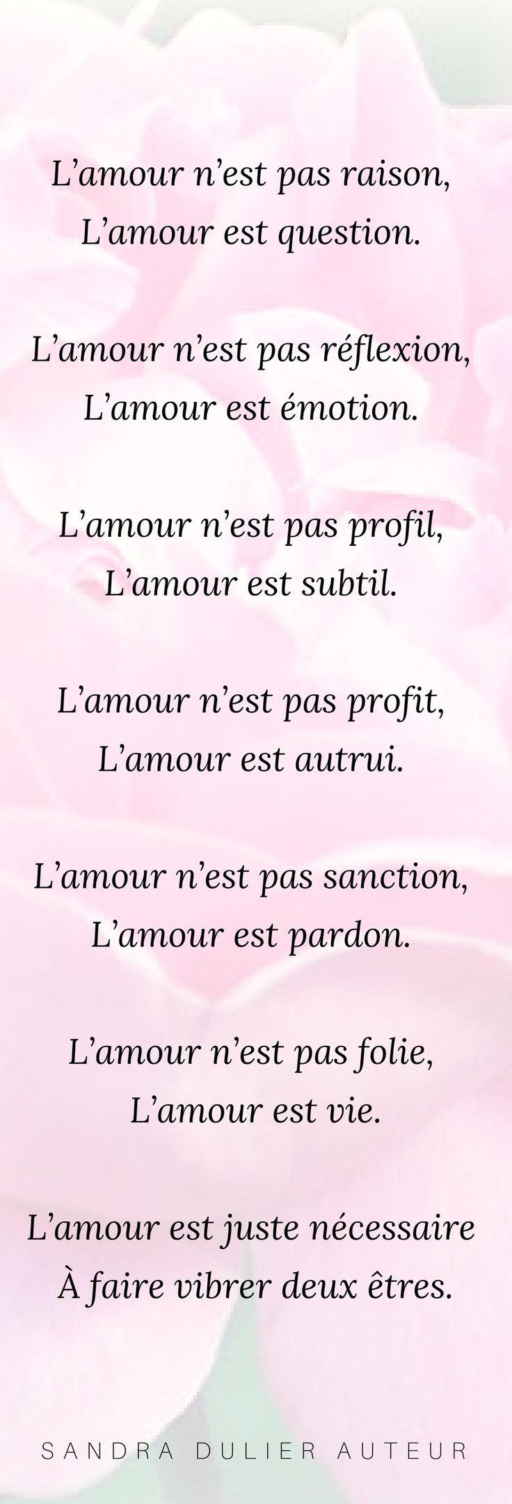 L'amour - poésie - définition - citation - Sandra Dulier