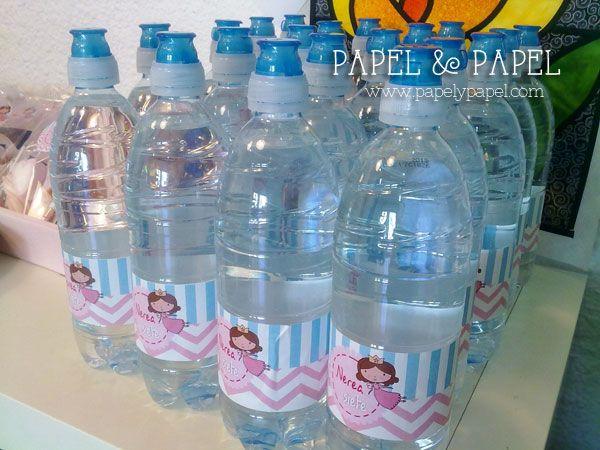 etiquetas para personalizar las botellas de agua