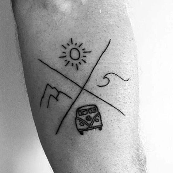 40 idées de tatouage Mountain Wave pour les hommes – Nature Designs #designs # Ideas #man …   – Tattoo-Grundlagen