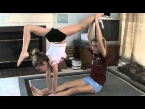 Awesome 2 person acro stunts!