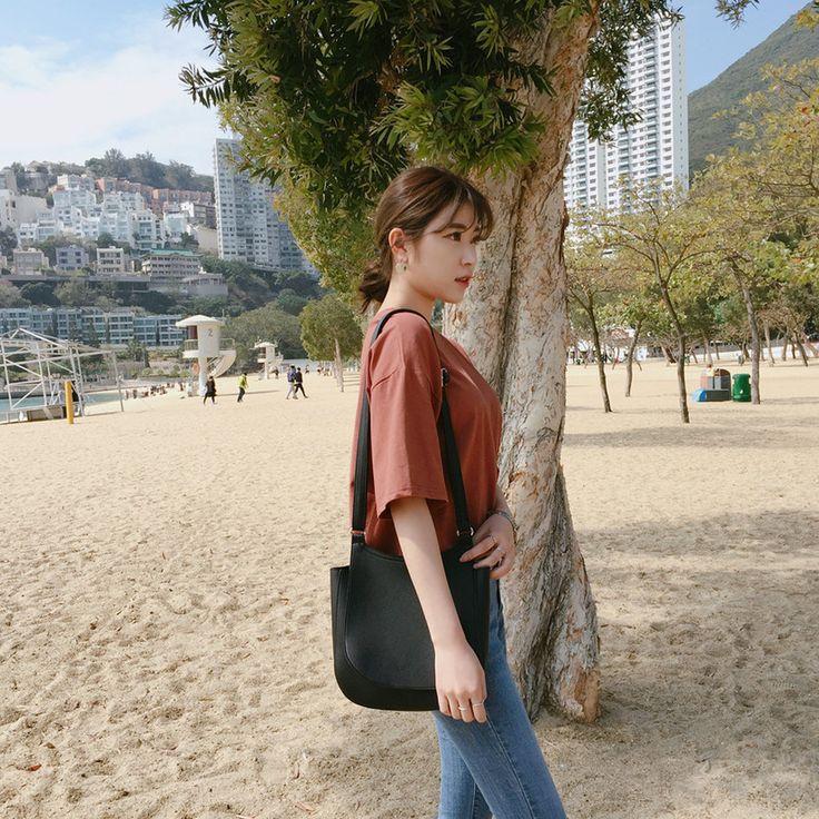 ♡ベーシッククルーネック半袖シャツ♡ #レディースファッション #ファッション通販 #ファッショントレンド #新作 #最新 #モテ服 #韓国ファッション #韓国レディース通販 #ootd #wiw  #fashionaddict #womensfashion #fashion 今週の新作 トップス > TEE BEST トップス  https://goo.gl/oVJQxJ