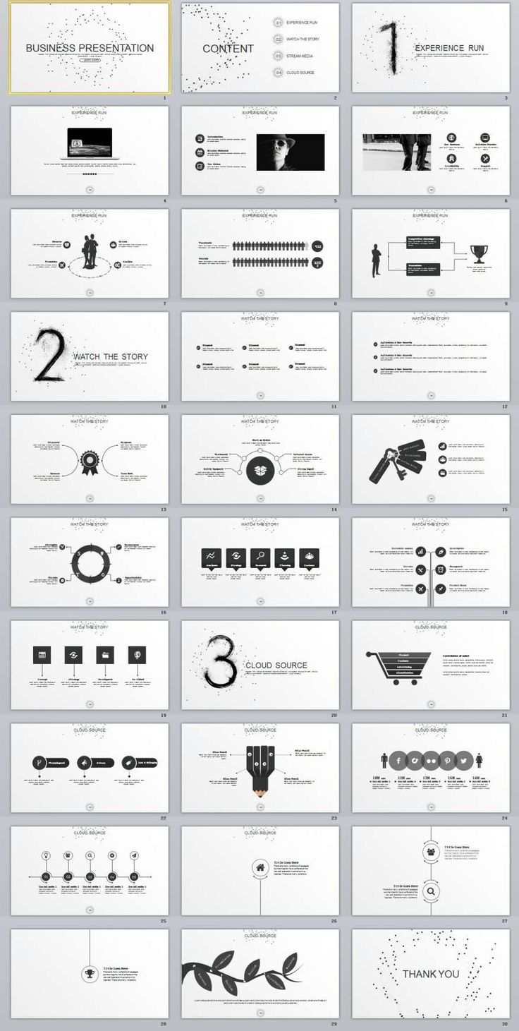 30+ gray Business Report PowerPoint Templates