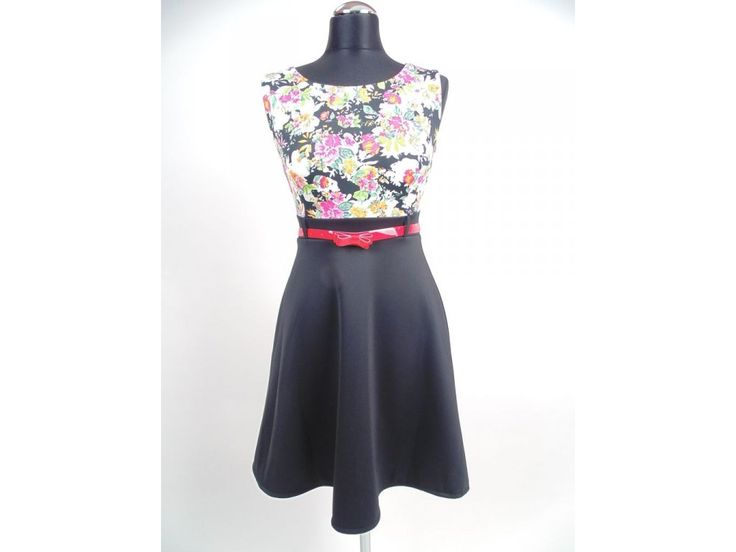 Letné čierne šaty Emília