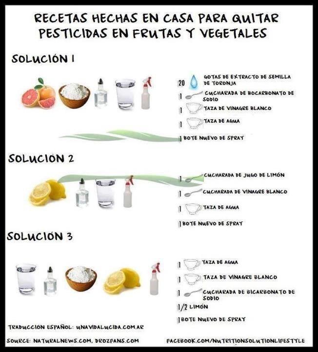 Desinfectante de verduras natural.