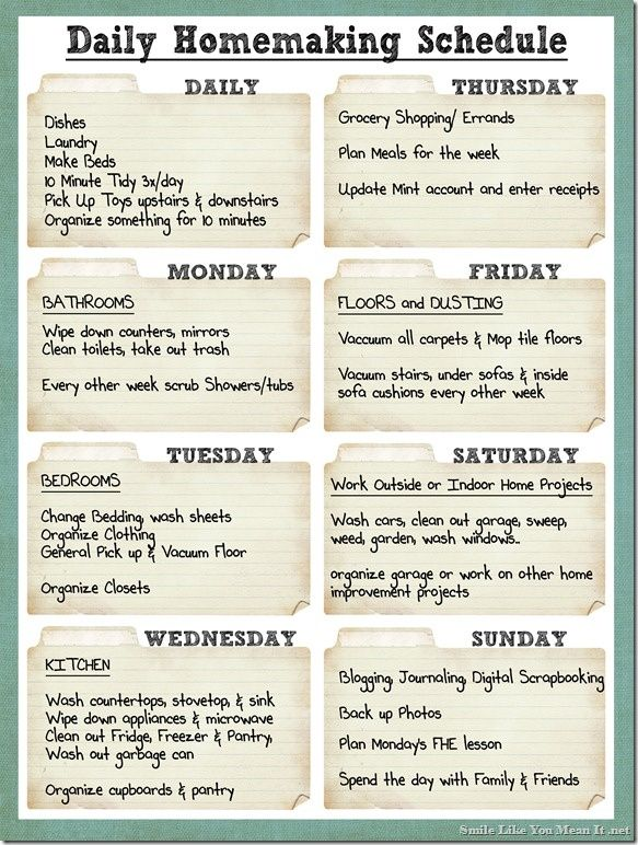 17 Best images about Hogar on Pinterest - detailed schedule template