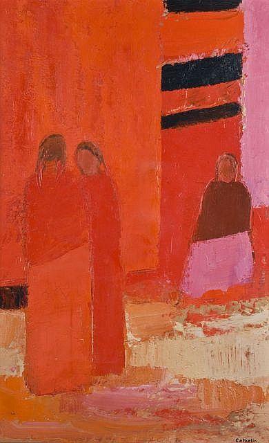 Bernard CATHELIN (1919 - 2004) PUERTO VALLARTA, 1974 Huile sur toile | h: 92.30 w: 59.80 cm