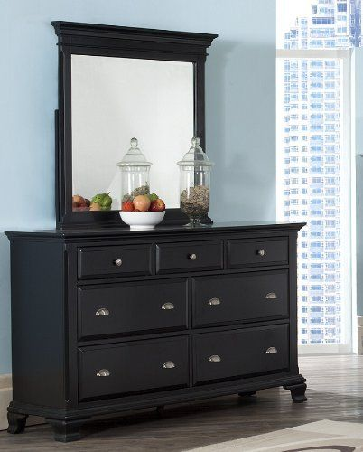 Give yourself and family a wonderful sleep with the Laveno 011 Black Dresser and Mirror in this bedroom series. This dresser & mirror set is crafted from Solid Wood Construction that's finished with a smooth deep black. Seven full, molded-front drawers provide enough room for clothing... more details available at https://furniture.bestselleroutlets.com/children-furniture/armoires-dressers/product-review-for-roundhill-furniture-laveno-011-black-wood-7-drawer-dresser-a