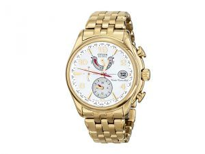 Citizen Watches FC0002-53A Eco-Drive World Time A-T (Gold Tone Stainless Steel) Dress Watches