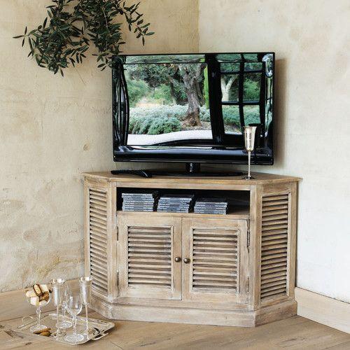 Les 25 meilleures id es de la cat gorie meuble t l d angle sur pinterest - Amenagement meuble tv ...