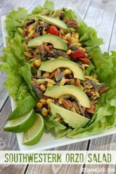 Jazz up your summer Jazz up your summer cookout side dishes with this Southwestern Orzo Salad. Fresh fast and delicious its sure to be a hit. Its almost too pretty to eat. (Almost!) Recipe : http://ift.tt/1hGiZgA And @ItsNutella  http://ift.tt/2v8iUYW  Jazz up your summer Jazz up your summer cookout side dishes with...